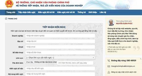 Chinh phu lap website nhan phan anh voi phong bi doanh nghiep - Anh 1