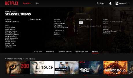 Netflix da co phu de tieng Viet nhung so luong chua nhieu - Anh 1