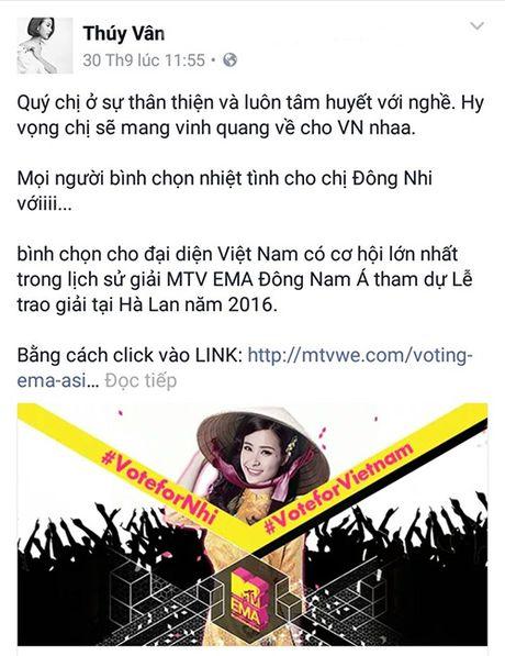 Khong chi ca si, dan my nhan cua showbiz cung het long ung ho Dong Nhi - Anh 8