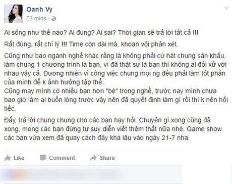 Vy Oanh dap tra status da xoay cua Tran Thanh - Anh 2