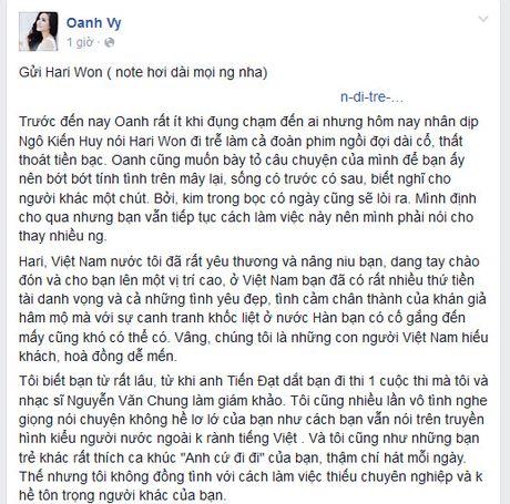 Vy Oanh dap tra status da xoay cua Tran Thanh - Anh 3