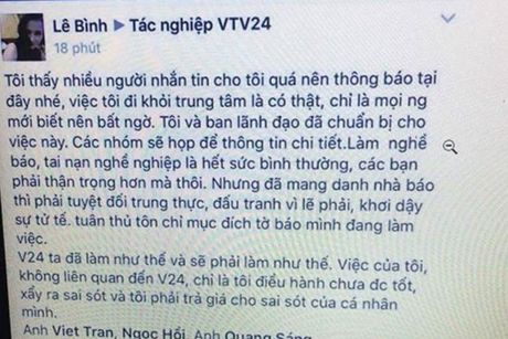 Nha bao Le Binh roi VTV24 vi 'sai sot ca nhan' - Anh 2
