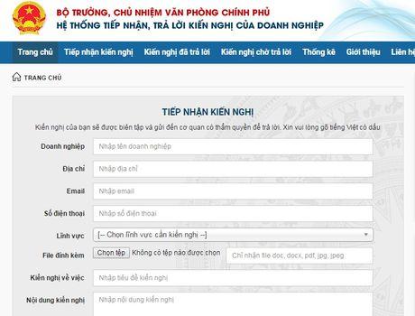 Doanh nghiep bat dau duoc tuong tac online voi Chinh phu - Anh 1