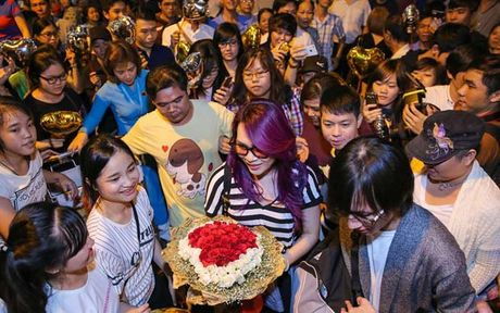 Fan Ha Ho da xoay My Tam dung tien mua nguoi ham mo; khan gia ung ho xoa so Vietnam Idol - Anh 1