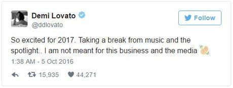 Demi Lovato tuyen bo nghi ca hat sau khi dam chot Taylor Swift tren bao - Anh 2
