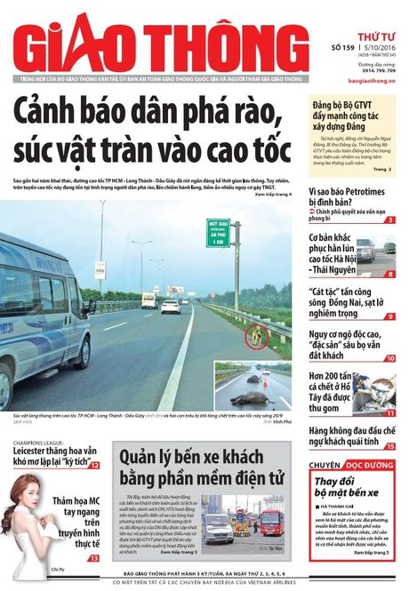 Bao Giao thong 5/10: Pha rao cao toc, ngo doc 'dac san' sau bo - Anh 1