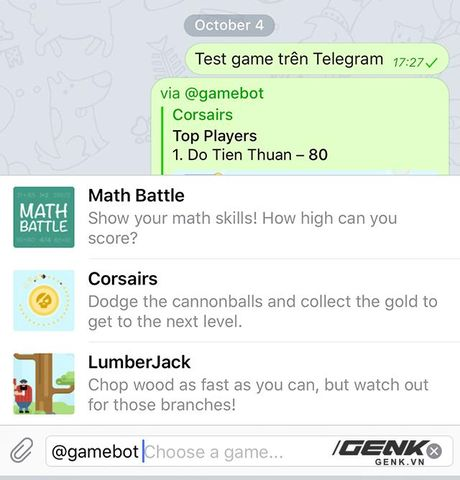 Choi thu game ngay trong Telegram, ung dung chat sieu bao mat - Anh 1