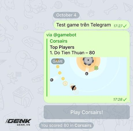 Choi thu game ngay trong Telegram, ung dung chat sieu bao mat - Anh 4