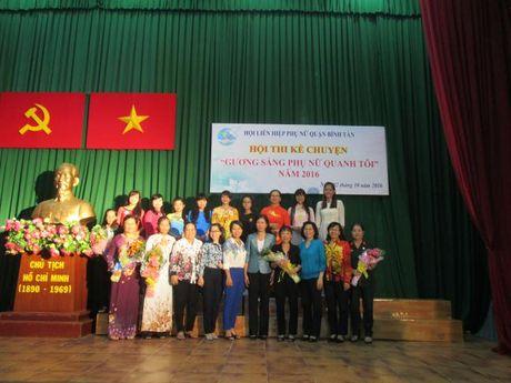 Q. Binh Tan: Hoi thi ke chuyen guong sang phu nu quanh toi thu hut gan 150 co dong vien - Anh 1