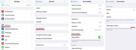 Mo khoa nhanh thiet bi iOS 10 chi voi mot lan nhan Home - Anh 1