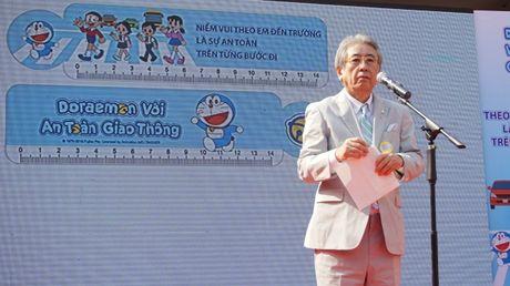 Meo may Doraemon tung bung hoc ATGT cung hoc sinh Thu do - Anh 6