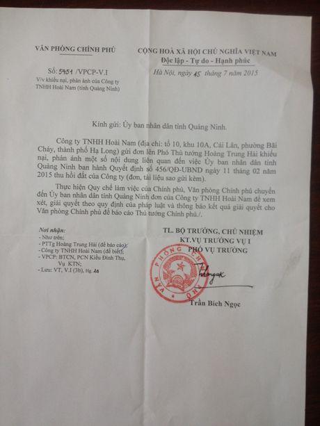 Bai 10: Cong ty Hoai Nam va Sao Bac 'phan phao' cac noi dung ma tinh Quang Ninh bao cao voi Chinh phu - Anh 1