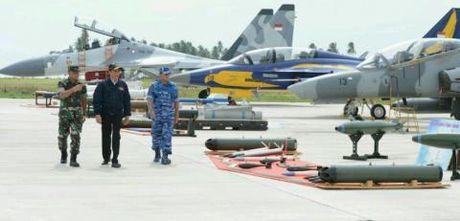Tong thong Indonesia cuoi Su-27 trong tap tran - Anh 1