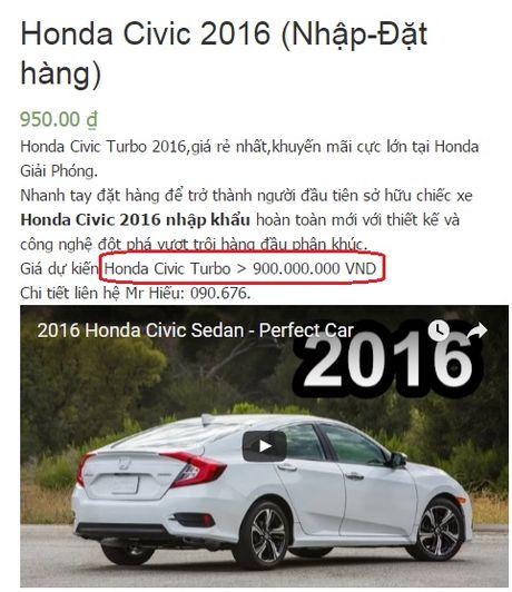 Honda Civic 2016 co gia tam tinh 979 trieu dong, khach hang choang vang - Anh 5