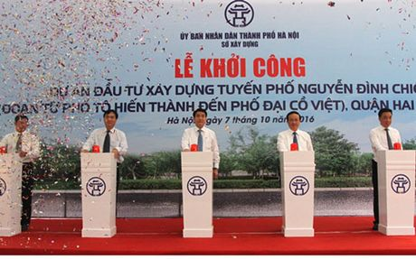 Ha Noi: Khoi cong du an xay dung tuyen pho Nguyen Dinh Chieu keo dai - Anh 1