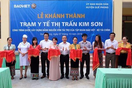 Bao Viet ho tro 4,9 ty dong xay tram y te o Nghe An - Anh 1