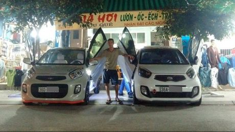 Them mot dan choi Thanh Hoa do cua cat keo Lamborghini cho Kia Morning, chi phi 15 trieu Dong - Anh 1