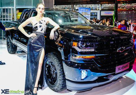 Chi tiet 'khung long' Chevrolet Silverado tai VMS 2016 - Anh 1