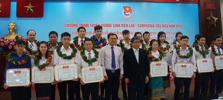 Tuyen duong 112 sinh vien Lao - Campuchia tieu bieu nam 2016 - Anh 2