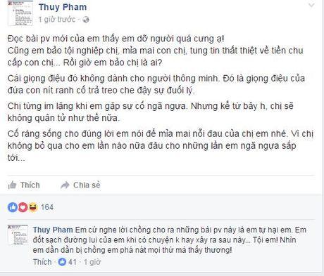 Ngoc Thuy nhan Phan Nhu Thao: 'Toi em, nhin em dan bi chong pha nat moi thu ma thay thuong'. - Anh 3