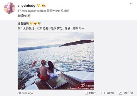 Huynh Hieu Minh hanh phuc tuyen bo Angela Baby da mang thai - Anh 2