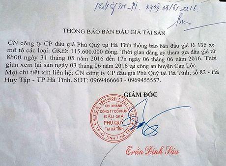 Ha Tinh: Bao cao Bo Tu phap ve vu 'nhap nhem' ban dau gia 135 xe may cua cong an - Anh 1