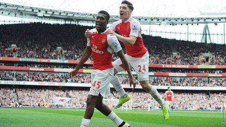 "Arsenal len ke hoach ""troi chan"" Iwobi va Bellerin - Anh 1"
