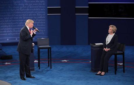 'Cuoc chien' ngon ngu co the giua Trump va Clinton trong cuoc tranh luan thu 2 - Anh 2