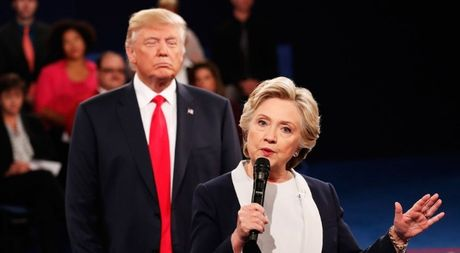 'Cuoc chien' ngon ngu co the giua Trump va Clinton trong cuoc tranh luan thu 2 - Anh 4