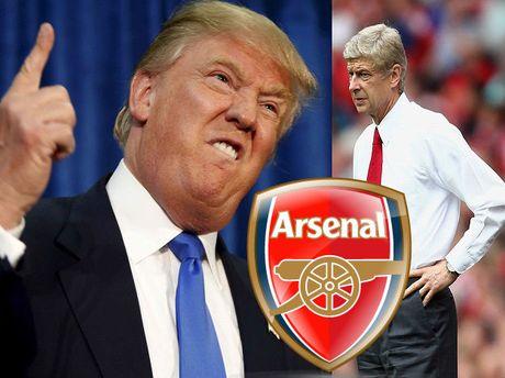 Donald Trump cuong Arsenal, hua 'rai tien' neu sa thai Wenger - Anh 1