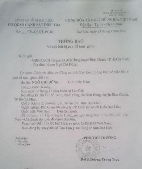 Vu bat giam PGD Cty CP Thuy san Minh Hieu Bac Lieu: Sao khong mo cho doanh nghiep 'duong song'? - Anh 2