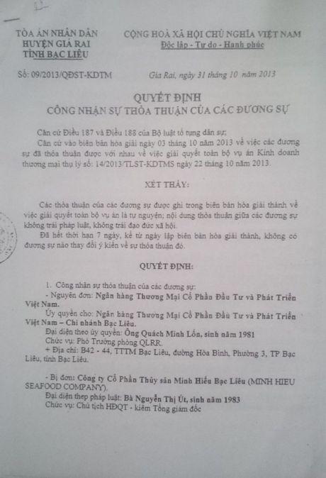 Vu bat giam PGD Cty CP Thuy san Minh Hieu Bac Lieu: Sao khong mo cho doanh nghiep 'duong song'? - Anh 3