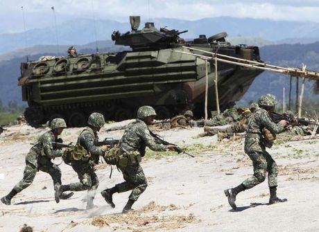 Philippines dot ngot rut ngan cuoc tap tran chung PHIBLEX 33 voi My - Anh 1