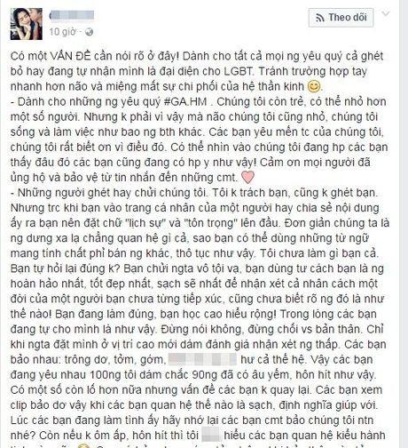 Cap doi dong tinh nu noi gi ve clip hon nhau phan cam tren facebook - Anh 4