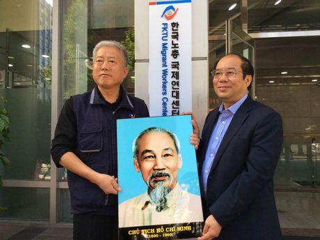 Pho Chu tich Tong LDLDVN Nguyen Van Ngang du khai truong Trung tam ho tro LD nhap cu o Han Quoc - Anh 1