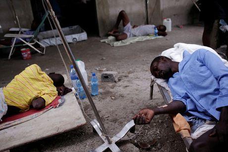 Tham kich nhan dao o Haiti: Xac nguoi lap day nhung ho chon tap the - Anh 1