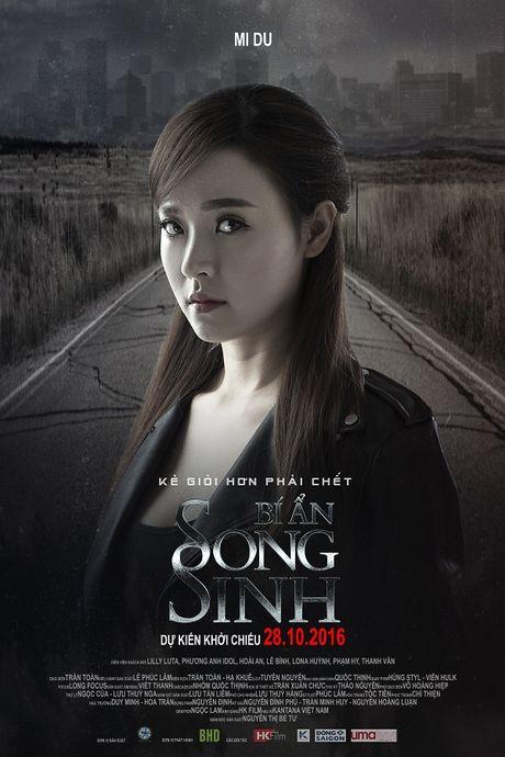 Midu lanh lung, Elly Tran hoang hot tren poster 'Bi An Song Sinh' - Anh 1