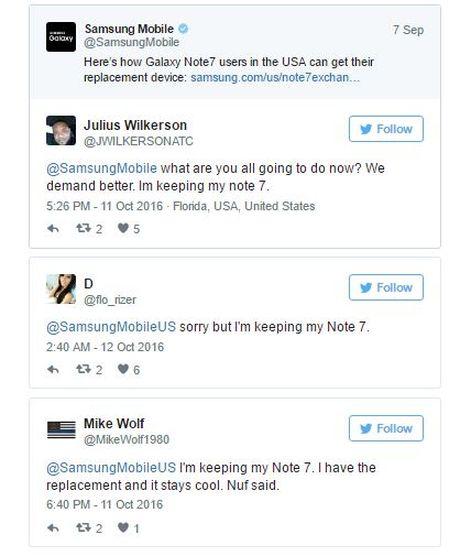 Fan cuong Galaxy Note7 kien quyet giu may: 'Den ma lay no khi toi da chet!' - Anh 1