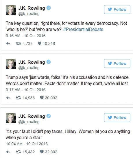 Nu tac gia 'Harry Potter' mia mai su hen nhat cua Donald Trump sau cuoc doi dau - Anh 1