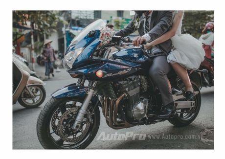 Cuc chat voi chu re biker don dau bang xe Suzuki Bandit 1200s - Anh 5