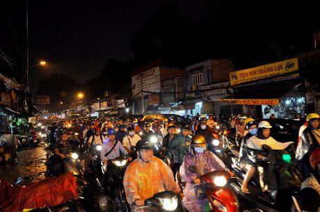 TP.HCM: Bien nguoi ket cung trong mua tren duong Nguyen Kiem - Anh 2