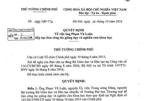 Thoi chuc Bo truong Bo GD&DT, ong Pham Vu Luan lam gi? - Anh 2