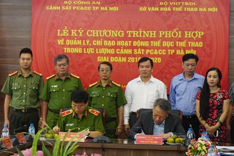 Ky ket phoi hop chi dao hoat dong the thao trong Canh sat PCCC - Anh 1