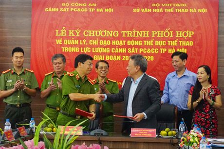 Ky ket phoi hop chi dao hoat dong the thao trong Canh sat PCCC - Anh 2