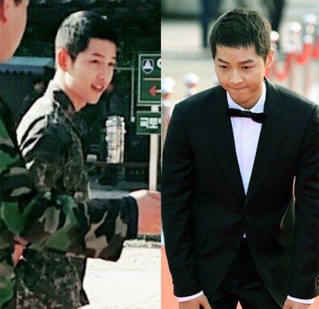 Hinh anh quan nhan Song Joong Ki lai 'gay sot' - Anh 1