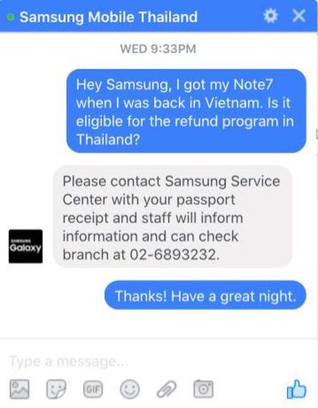 Galaxy Note7 xach tay co duoc hoan tien va nhan du uu dai nhu may chinh hang khong? - Anh 2