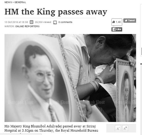 Nguoi dan Thai Lan khoc nghen, tiec thuong Nha vua Bhumibol Adulyadej - Anh 3