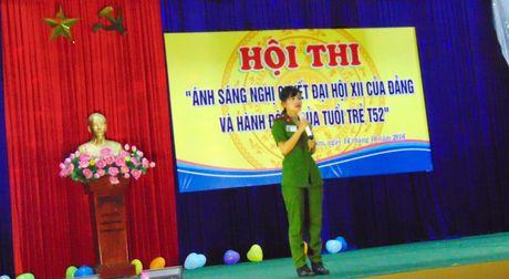 Truong Trung cap CSND V to chuc Hoi thi tim hieu Nghi quyet Dai hoi XII - Anh 3