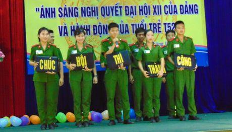 Truong Trung cap CSND V to chuc Hoi thi tim hieu Nghi quyet Dai hoi XII - Anh 5