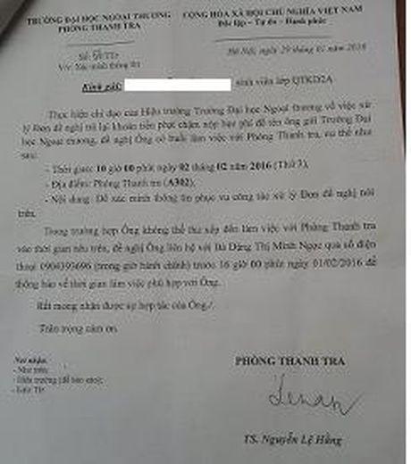 Bao cao Thu tuong ve to cao lanh dao DH Ngoai Thuong thu sai 7 ty dong - Anh 2